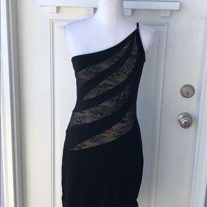 Cache• One Shoulder Asymmetrical Bodycon Dress